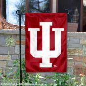 Indiana University IU Logo Double Sided Garden Flag
