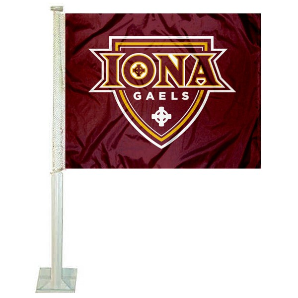Iona College Car Flag