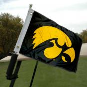Iowa Hawkeye Golf Cart Flag