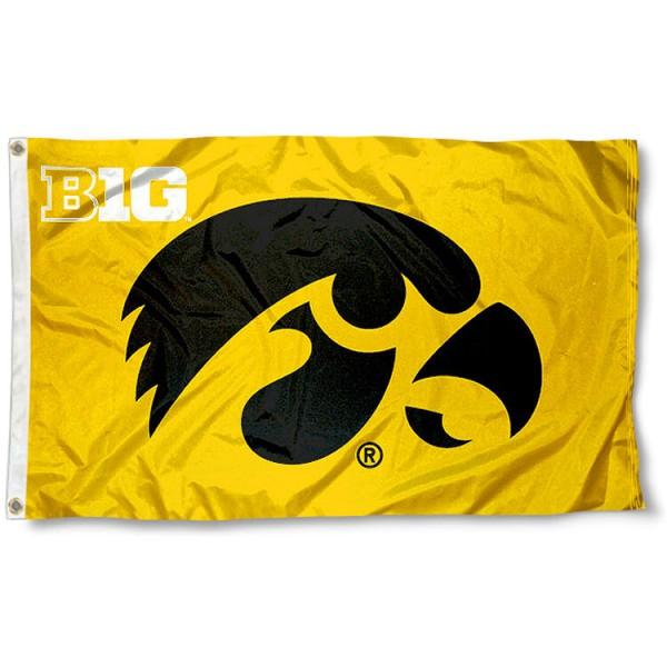 Iowa Hawkeyes Big 10 Flag