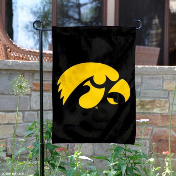 Iowa Hawkeyes Black Yard Flag