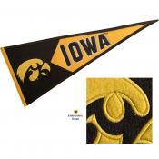 Iowa Hawkeyes Embroidered Wool Pennant