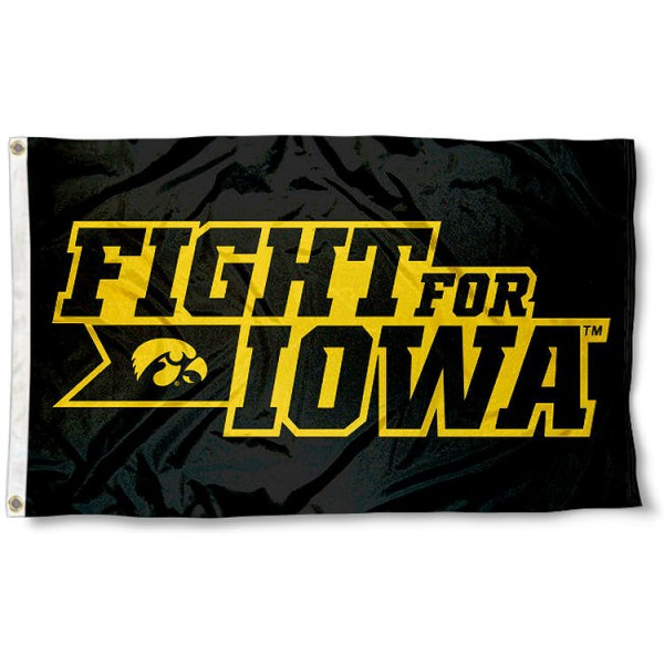 Iowa Hawkeyes Fight for Iowa 3x5 Foot Flag