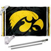 Iowa Hawkeyes Flag and Bracket Flagpole Kit