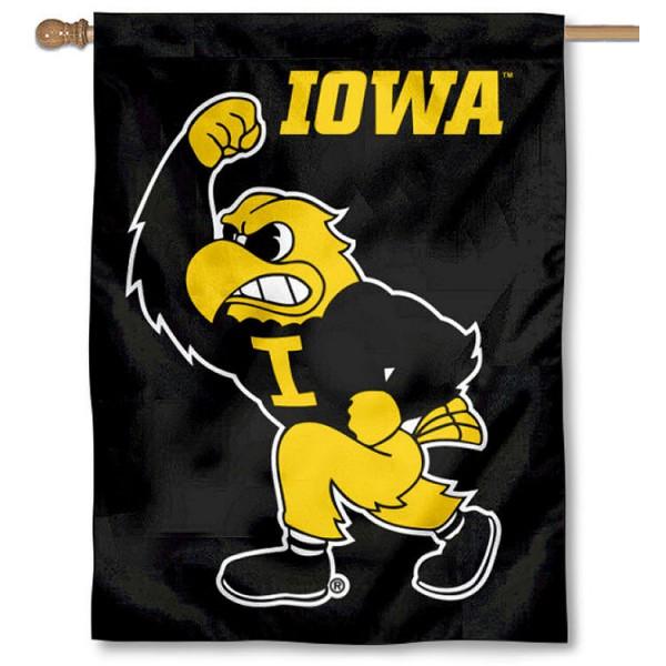 Iowa Hawkeyes Herky House Flag