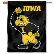 Iowa Hawkeyes Herky House Flag