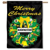 Iowa Hawkeyes Holiday Flag