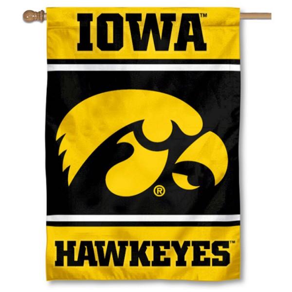 Iowa Hawkeyes House Flag