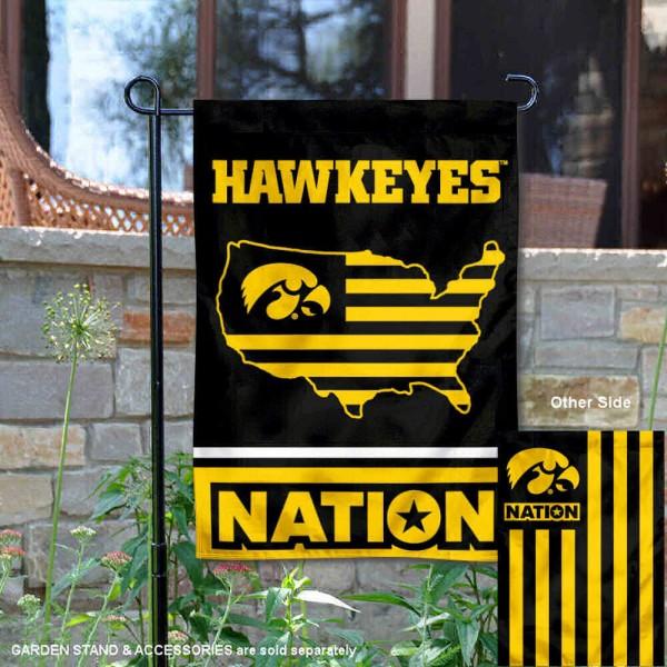Iowa Hawkeyes Nation Garden Flag