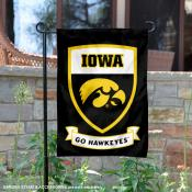 Iowa Hawkeyes Shield Garden Banner
