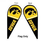 Iowa Hawkeyes Teardrop Flag