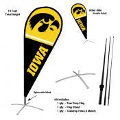 Iowa Hawkeyes Teardrop Flag and Stand Kit