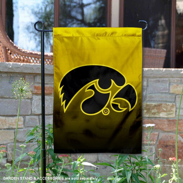 Iowa Hawkeyes Two Tone Garden Banner