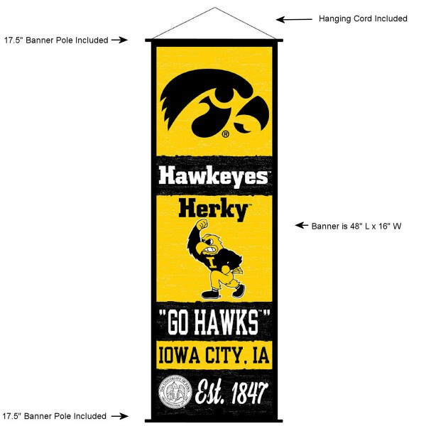 Iowa Hawkeyes Wall Banner and Door Scroll