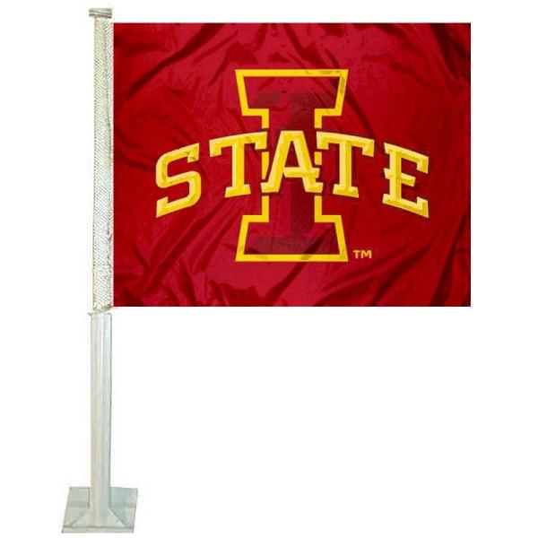 Iowa State Car Flag