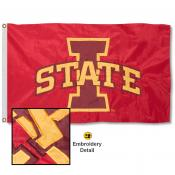 Iowa State Cyclones Appliqued Sewn Nylon Flag