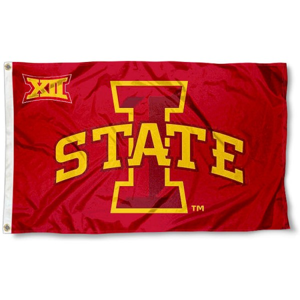 Iowa State Cyclones Big 12 Flag