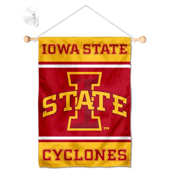 Iowa State Cyclones Window Hanging Banner with Suction Cup