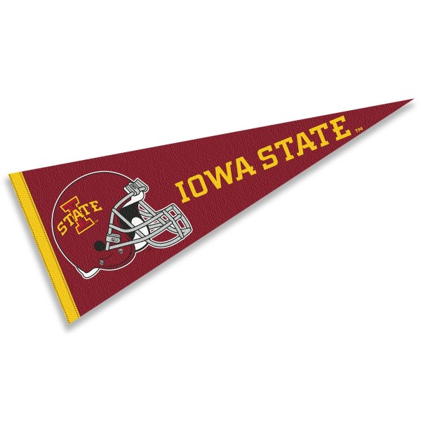 Iowa State University Football Helmet Pennant