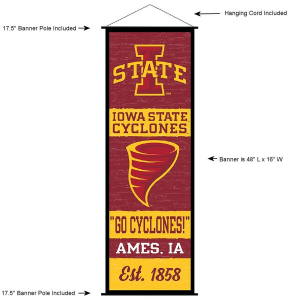 Iowa State Wall Banner and Door Scroll