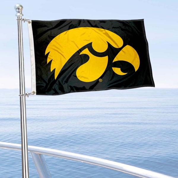 Iowas Hawkeyes Boat Flag