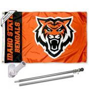 ISU Bengals Flag and Bracket Flagpole Kit