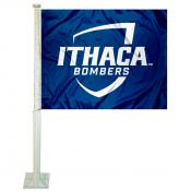 Ithaca Bombers Car Flag