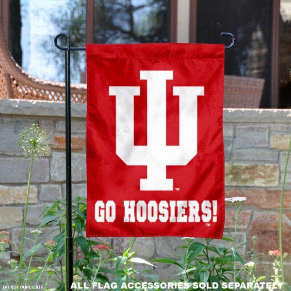 IU Go Hoosiers Garden Flag