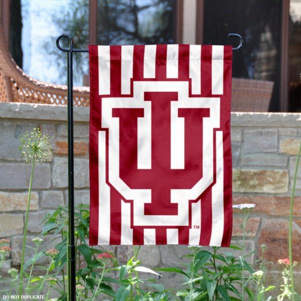 IU Hoosiers Candy Stripe Garden Banner