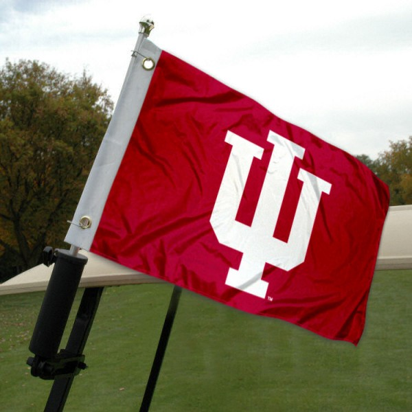 IU Hoosiers Golf Cart Flag
