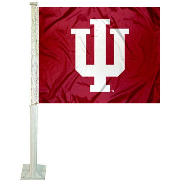 IU Hoosiers Red Car Flag