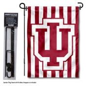 IU Hoosiers Striped Garden Flag and Holder