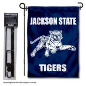 Jackson State Tigers Garden Flag and Holder