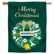 Jacksonville Dolphins Christmas Holiday House Flag