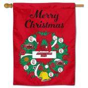 Jacksonville State Gamecocks Christmas Holiday House Flag