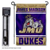 James Madison Dukes Garden Flag and Holder
