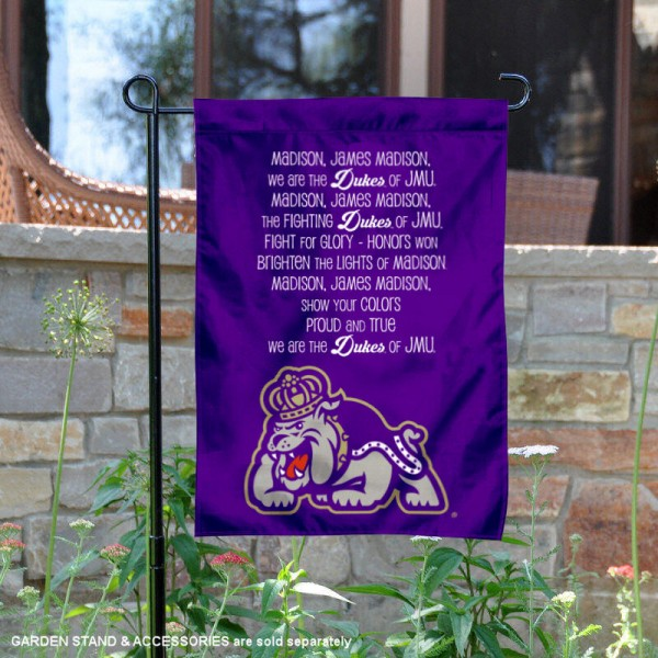 James Madison Dukes JMU Fight Song Garden Banner