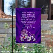 James Madison Dukes JMU Fight Song Garden Banner