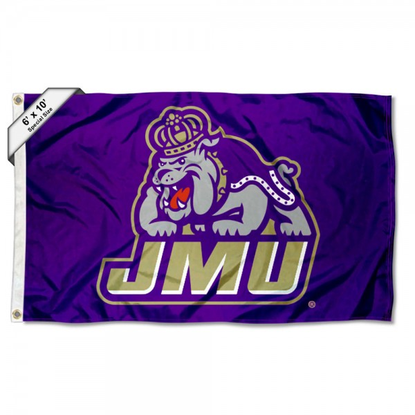 James Madison Dukes Logo 6x10 Large Flag