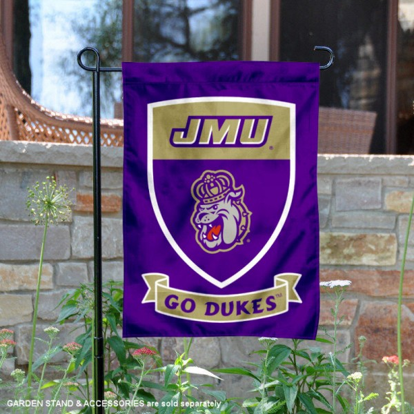 James Madison Dukes Shield Garden Banner
