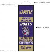 James Madison Dukes Wall Banner and Door Scroll