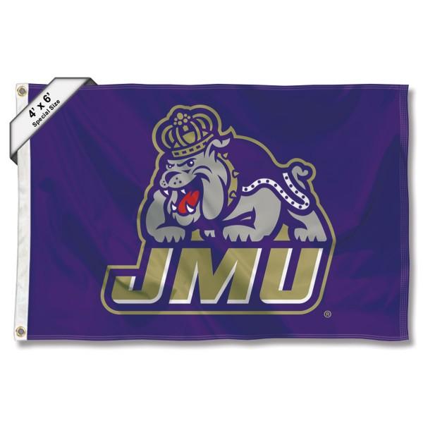 James Madison University Dukes Logo 4'x6' Flag