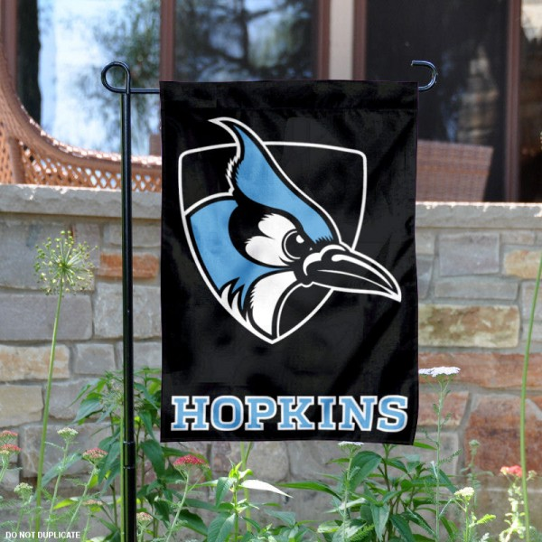 JHU Blue Jays Black Garden Flag