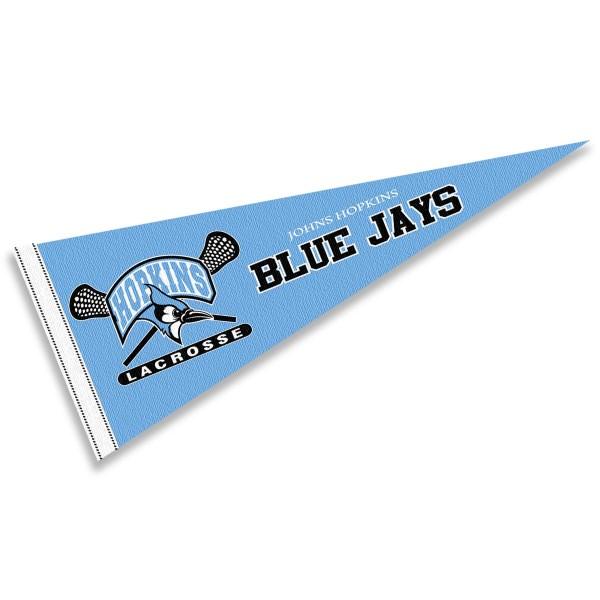 JHU Blue Jays Lacrosse Logo Pennant