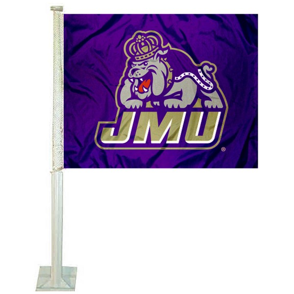 JMU Dukes Car Flag