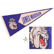 JMU Dukes Embroidered Wool Pennant