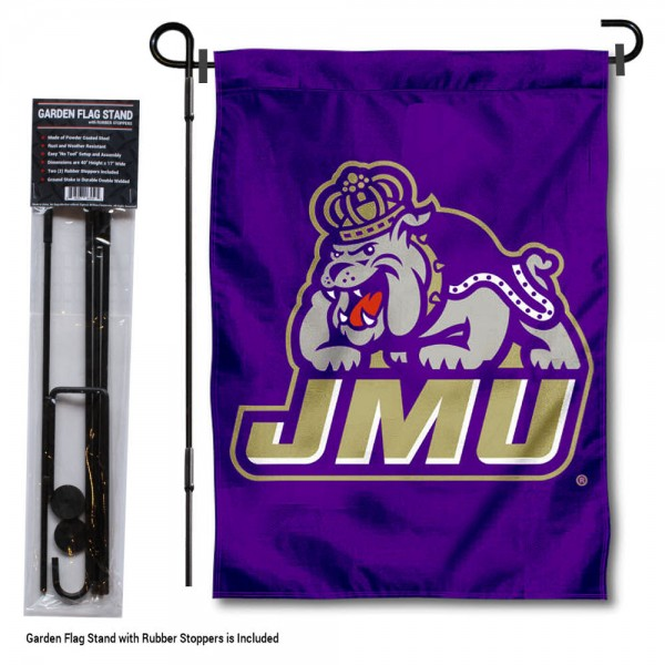JMU Dukes New Logo Garden Flag and Holder