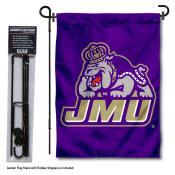 JMU Dukes New Logo Garden Flag and Holder