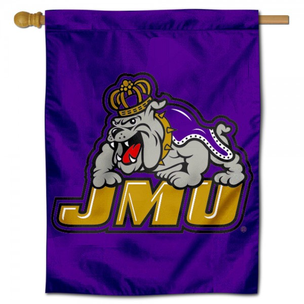 JMU Dukes Vintage Logo House Flag