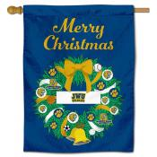 John and Wales Wildcats Christmas Holiday House Flag